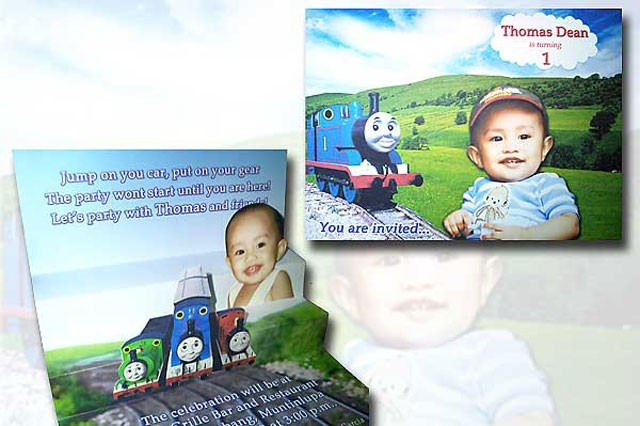 Thomas Dean's 1st Birthday Invite